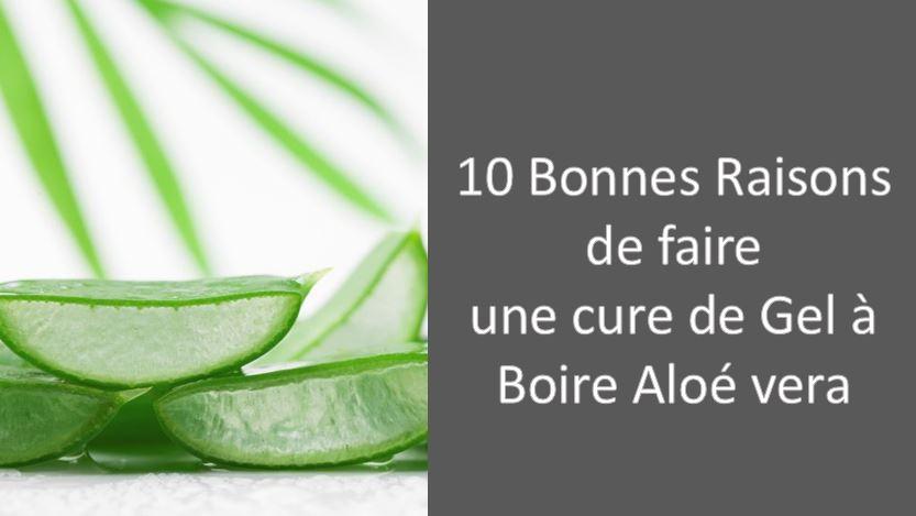 10 Bonnes Raisons de faire une cure de Gel à Boire Aloé vera