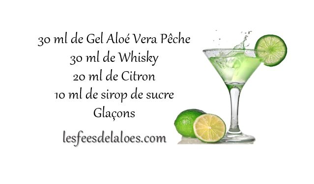Recettes cocktails alo vera for Cocktail whisky miel