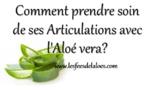 Articulations - Comment prendre soin de ses Articulations avec l'Aloé vera?