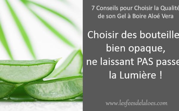 Conseil N°4 - Choisir des produits en bouteille bien opaque, ne laissant PAS passer la Lumière !