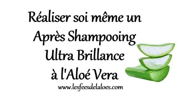 Réaliser soi même un Après Shampooing Ultra Brillance à l'Aloé Vera